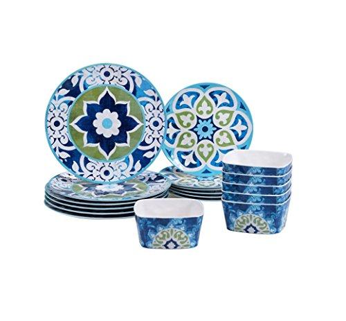 Barcelona Collection 18-piece Melamine Dinnerware Set Beautiful Oriental Design  sc 1 st  Kitchen Little Helpers & Top 20 for Best Melamine Dinnerware