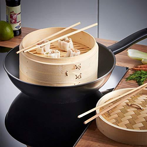 Viet Bamboo  Light Steamer basket 10 Inch Handmade -bonus minimum 5 liners per set- 2 Tier - lid - Healthy natural Cooking for Vegetables - Dim Sum Dumplings - Buns - rice -Chicken Fish Meat Dish
