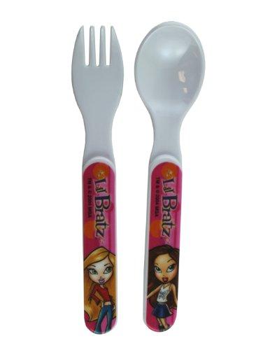 2 Piece Bratz Fork and Spoon Set - Kids Flatware