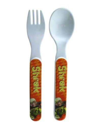 2 Piece Shrek Fork and Spoon Set - Kids Flatware