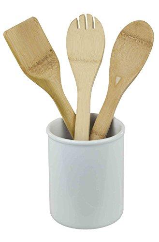 Home Basics Ceramic Cutlery Holder White