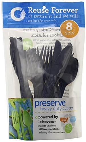 Preserve 24-Piece Cutlery Set Midnight Blue Pack of 12