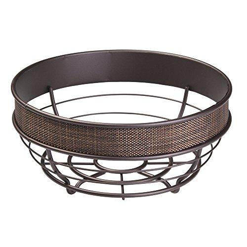 InterDesign Twillo Fruit Bowl for Kitchen Countertops - Bronze