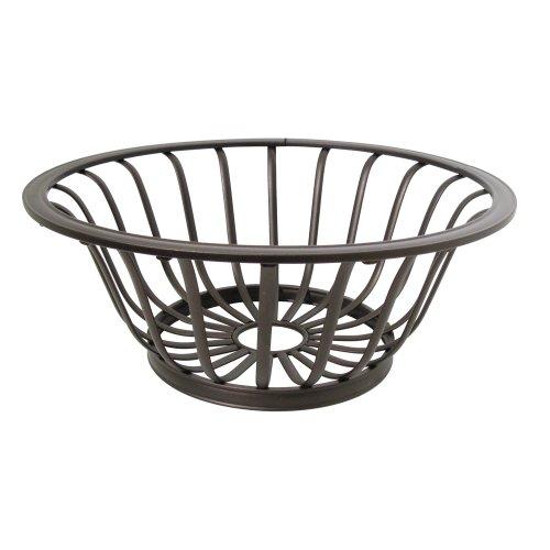 InterDesign York Houseware Fruit Bowl for Kitchen Countertops - Bronze