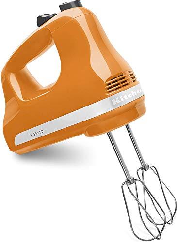 Factory Reconditioned KitchenAid RRKHM5TG 5-Speed Ultra Power Hand Mixer - Tangerine Renewed