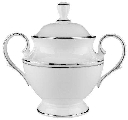 Lenox Federal Platinum Bone China Sugar Bowl with Lid