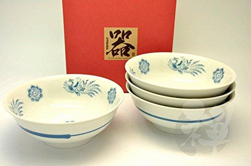 Japanese Mino Yaki Noodle Bowl Ramen Bowl 4pc set 203  203  8cm 79  79  31inch6792