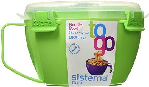 Sistema Noodle Bowl To Go 317oz  940ml Green