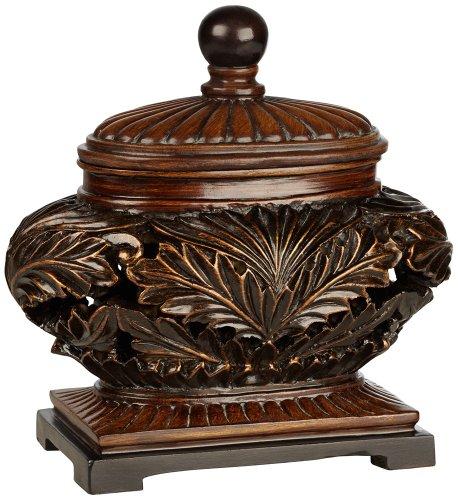 Weldona Decorative Brown Bowl with Lid