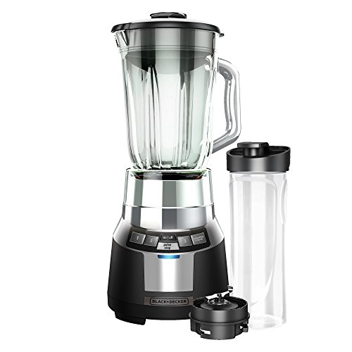 BLACKDECKER FusionBlade Digital Blender with 6-Cup Glass Jar BlackStainless BL1820SG-P