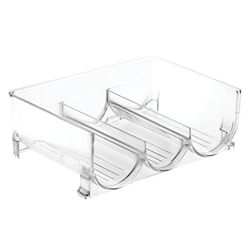 InterDesign Linus Stackable Wine Storage Rack for Kitchen Countertops Cabinets Refrigerators-Clear Water Bottle 3