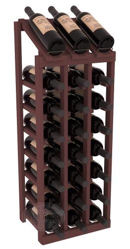 Wine Racks America Ponderosa Pine 3 Column 8 Row Display Top Kit 13 Stains to Choose From
