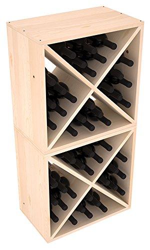 Wine Racks America Ponderosa Pine 48 Bottle Wine Cube 13 Stains to Choose From