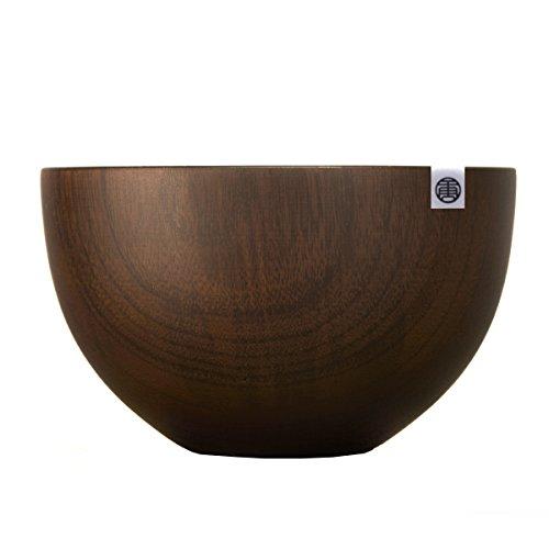 Homestia Japanese Style Dark Brown Jujube Wood Round Dinning Soup Bowl Salad Bowl 51