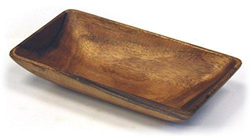Mountain Woods Artisan Crafted Organic Acacia Rectangular ServingSalad Bowl
