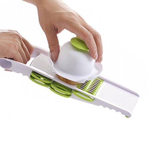 ZEFL Kitchen Vegetable Fruit Cutter Chopper Grater Julienne Slicer with 5 Stainless Steel Interchangeable Blades