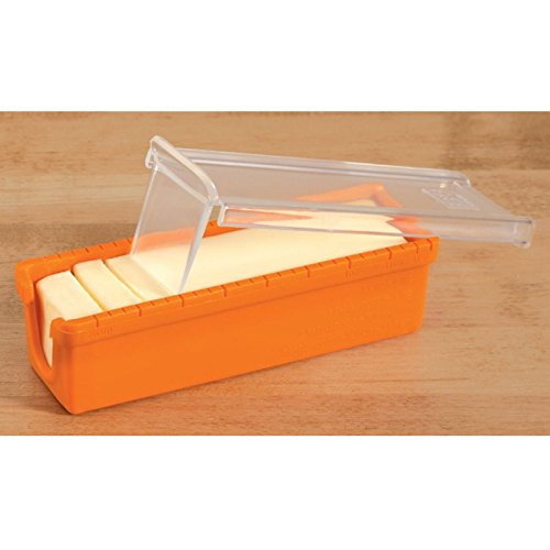 MeterMall Silicone Butter Cheese Cutter Slicer Storage Container Box Baking Accessories