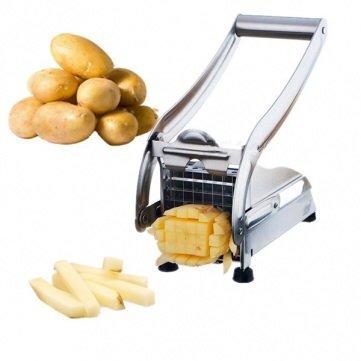Stainless Steel Potato Cutter Maker Slicer Chopper Dicer 2 Blades