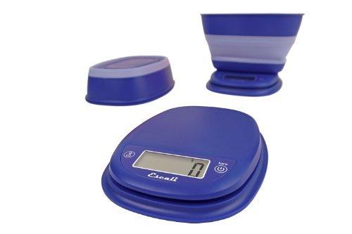 Escali B115FB Pop Digital Scale wCollapsible Bowl 11-Lb5kg Frost Blue by Escali