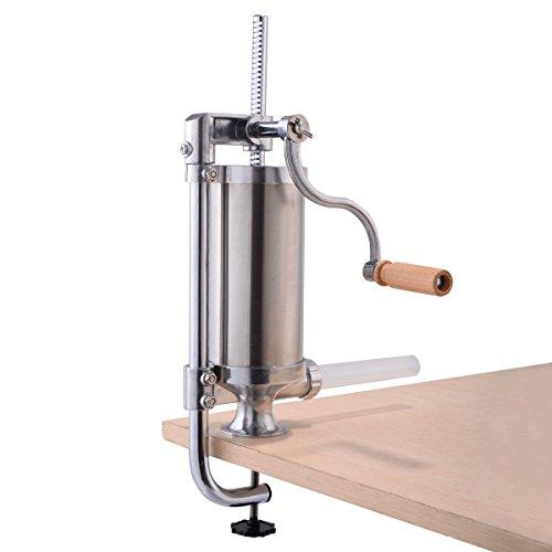 Goplus Stainless Steel Vertical Sausage Stuffer Maker Meat Filler Commercial 15L