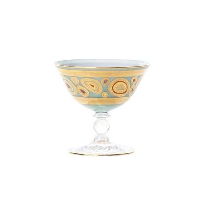 Vietri Regalia Aqua Dessert Bowl