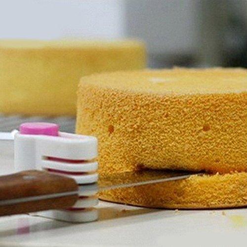 ACHKL DIY Cake Bread Cutter Leveler 5 Layers Slicer Cutting Fixator Tools