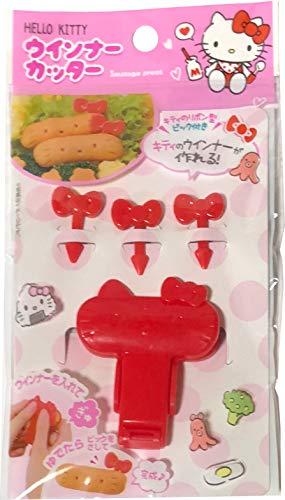 FRIEND Sanrio Hello Kitty Weiner Sausage Cutter Press Picks 3pcs Set Kitchen Tools