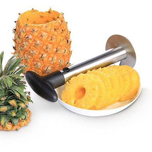 Guerbrilla Stainless Steel Pineapple De-Corer Peeler Stem Remover Blades for Diced Fruit Rings Pineapple Peeler Pineapple Cores Slicer Kitchen Tool