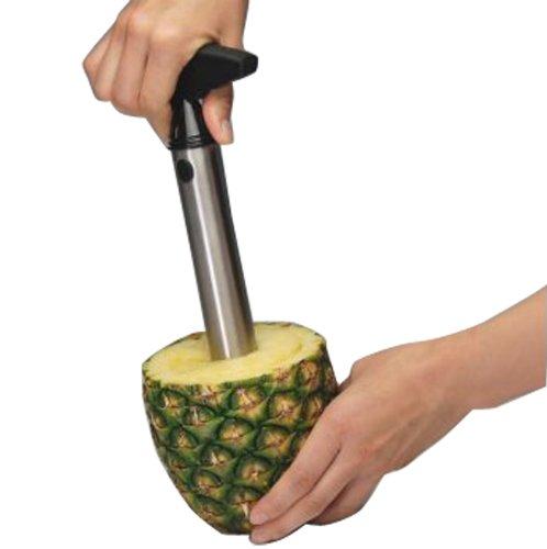Rienar Easy Tool Stainless Steel Fruit Pineapple Corer Slicer Peeler Cut