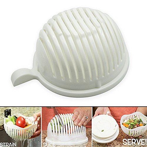 Toyofmine Healthy Fresh Maker Vegetable Salad Cutter Bowl Make Your Salad in 60 Seconds
