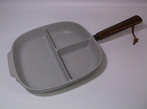 Vintage Nordic Ware Bundt Tri-Pan Skillet Frying Pan w Wooden Handle USA