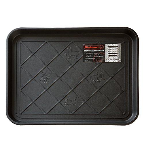 Stalwart ECO Friendly Utility Boot Tray Mat 20 x 15Small Black