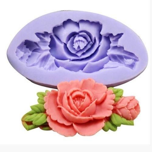 Yosoo Rose Flower Silicone Cake Mold Fondant Chocolate Decorating Baking Mould DIY