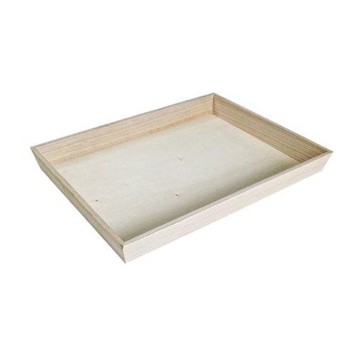 PacknWood Heavy Duty Wooden Tray 122 x 122 Case of 10
