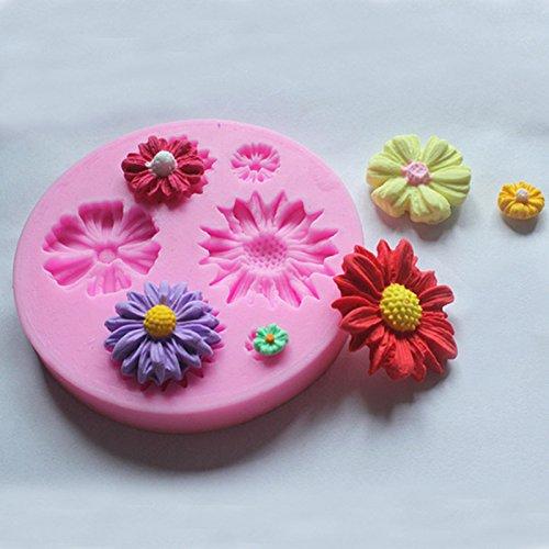 1 Pcs Daisy Flower Silicone Mold Fondant Cake Decorating Tools Sugarcraft Cake Mold 3D Silicone Bakeware Moulds