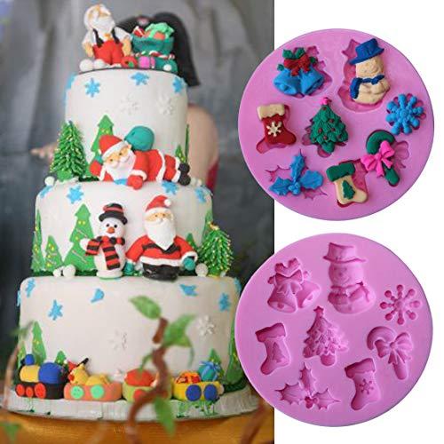 Fiesta Fashion Christmas snowflake snowman sock Silicone Mold Cake Mold Silicone Baking Tools Kitchen Decorations Fondant DIY