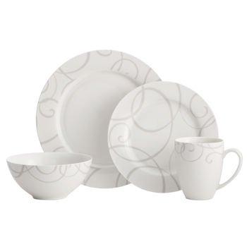 Oneida Symphony Grey 32-piece Dinnerware Set Features Lead-free Porcelain Dinnerware