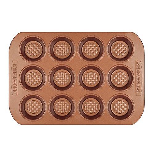 Farberware 47142 Colorvive Bakeware Nonstick Muffin Pan Copper