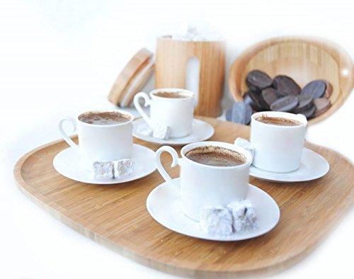 Bambum Macchiato - Bamboo Tea Coffee Breakfast Snack Nut Appetizer Serving Triangle Tray
