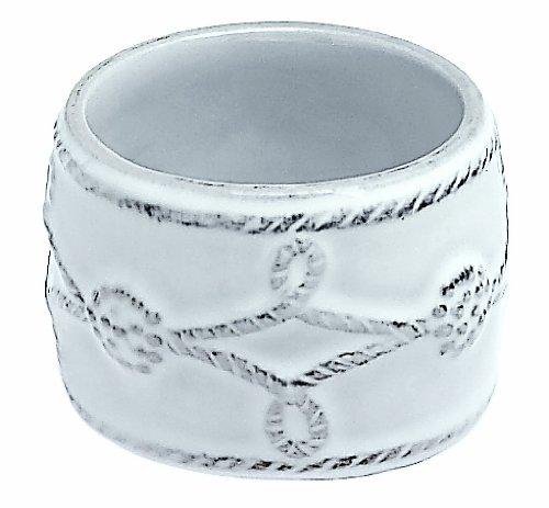 Juliska Ceramics Berry Thread-Whitewash Napkin Ring Fine China Dinnerware
