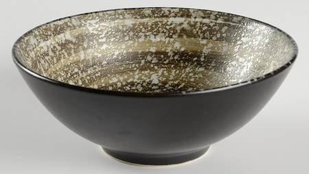 Sango Soho-Black SoupCereal Bowl Fine China Dinnerware