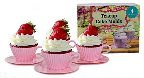 handy helpers Bulk Buys Teacup Cake Molds 4-Pack