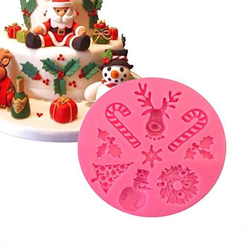 Christmas Shape Silicone Mold 3D Cake Mold Baking Mold Fondant Mould