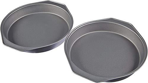 AmazonBasics Nonstick Carbon Steel Round Baking Cake Pan 9 Inch Set of 2