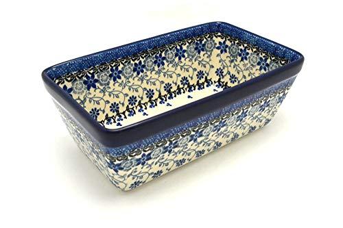Polish Pottery Baker - Loaf Dish - Silver Lace