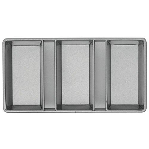Chicago Metallic Bakeware Aluminized Steel Glazed 3-Strap Loaf Pan Set
