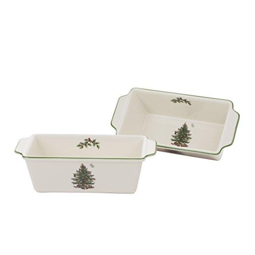 Spode Christmas Tree Loaf Pan Set of 2