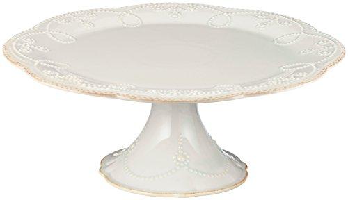 Lenox French Perle Pedestal Cake Plate Medium White