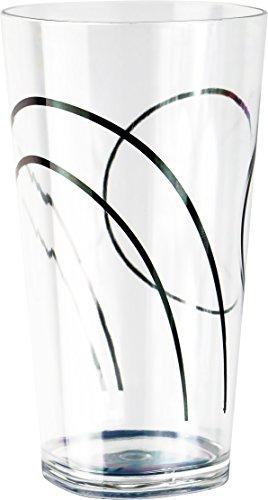 Corelle Coordinates Simple Lines Acrylic Square Tumbler Glasses 19-Ounce Set of 6