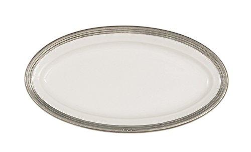 Arte Italica Tuscan Oval Platter Medium White